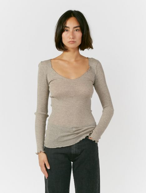 Vagueira Wool Silk Top