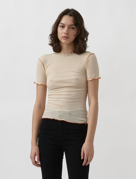 Vein Ribbed Top