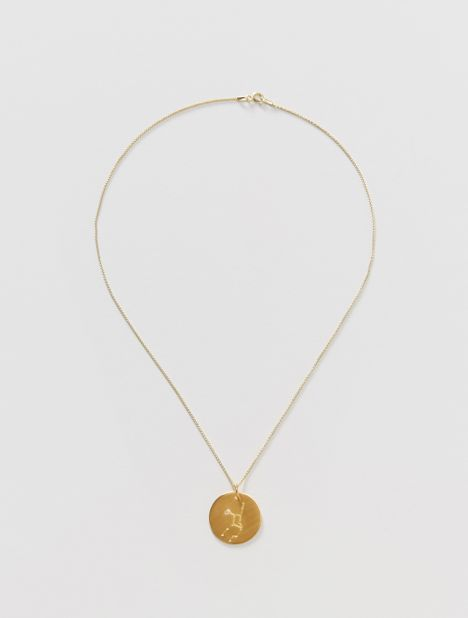 Virgo Zodiac Constellation Pendant Necklace