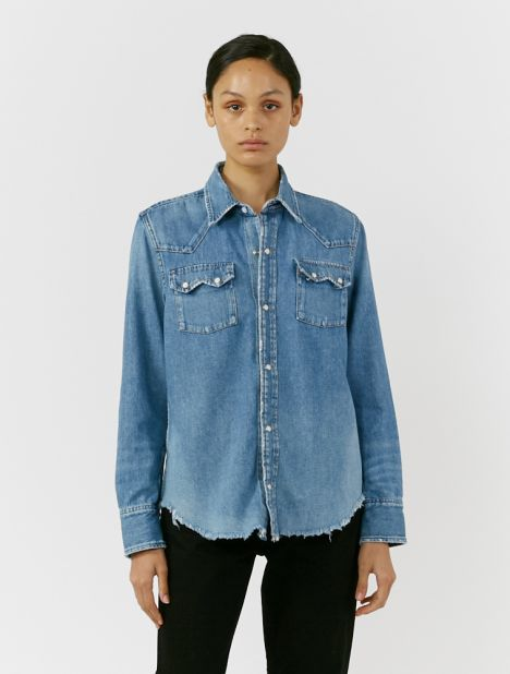 50's Western Denim Shirt
