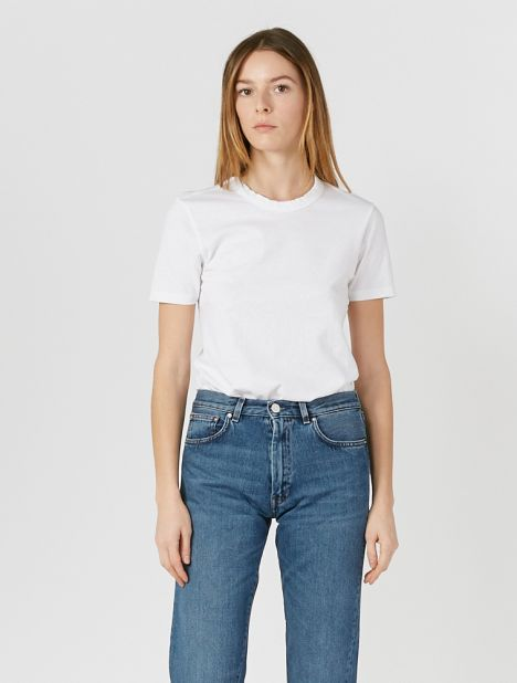 Wide Heritage Slim T.Shirt - White