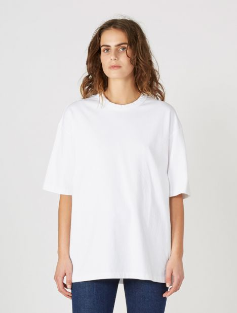 Oversized Wide Heritage T-Shirt - White