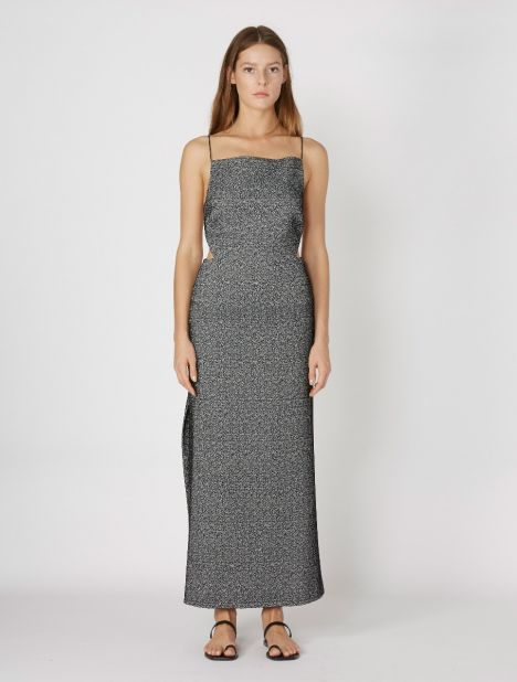 Wire Back Dress - Jacquard