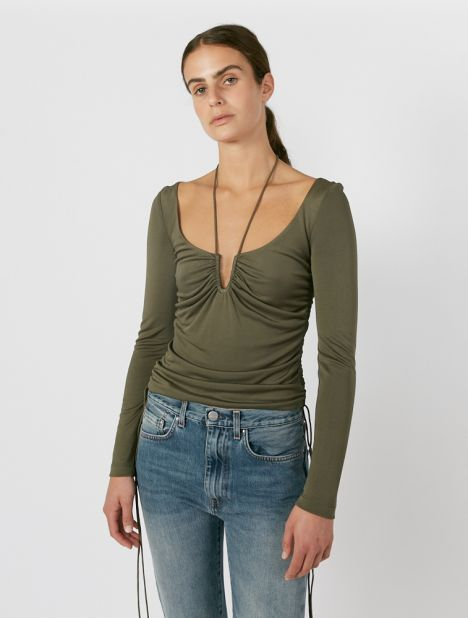 Silk Jersey Wire Top