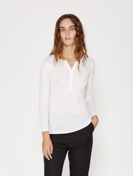 Wood Fine Rib Henley Top