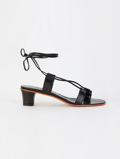 Pavone Heeled Sandal - Black
