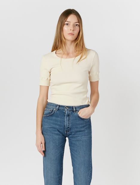 Superfine Rib Top - Ecru
