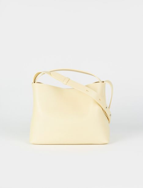 Mini Sac Leather Tote Bag - Jojoba