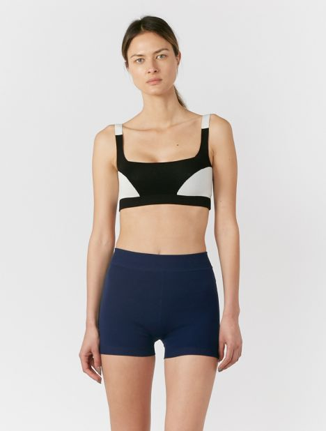 Organic Hi-Rise Yoni Bike Short - Navy