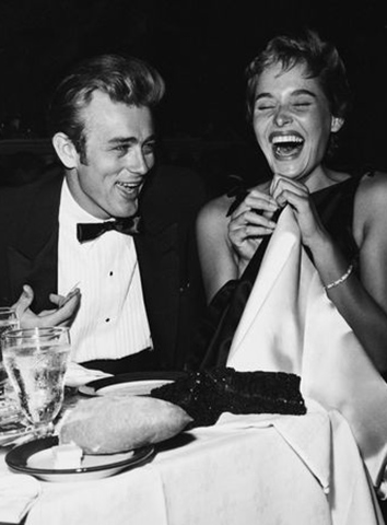 James Dean and Ursula Andress 1955
