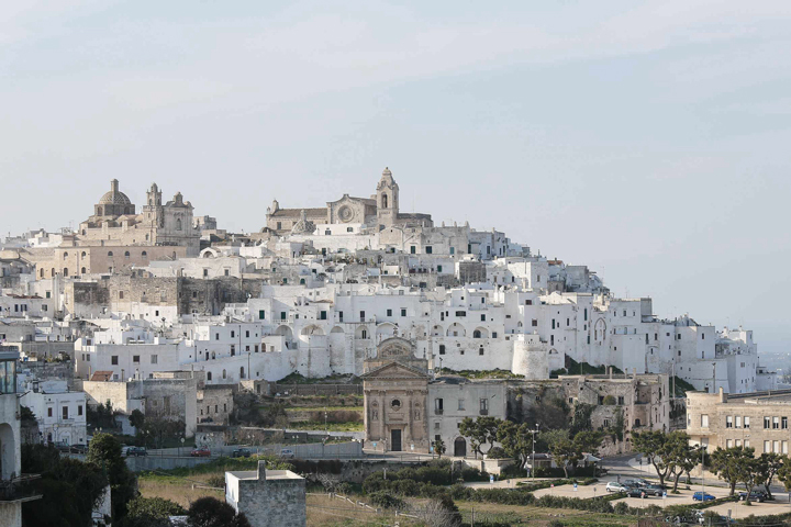 White city Ostuni Puglia photographed by Alamy